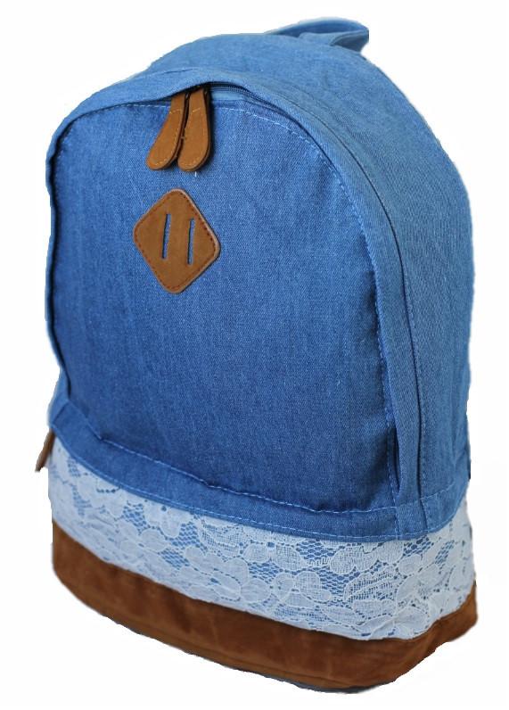 Рюкзак міський Lace Jeans NH00168 Блакитний (tau_krp360_00168)