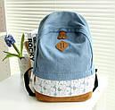 Рюкзак міський Lace Jeans NH00168 Блакитний (tau_krp360_00168), фото 2