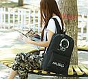 Рюкзак городской светящийся BNJ00296 Music Fluor Черный (tau_krp258_00296), фото 2