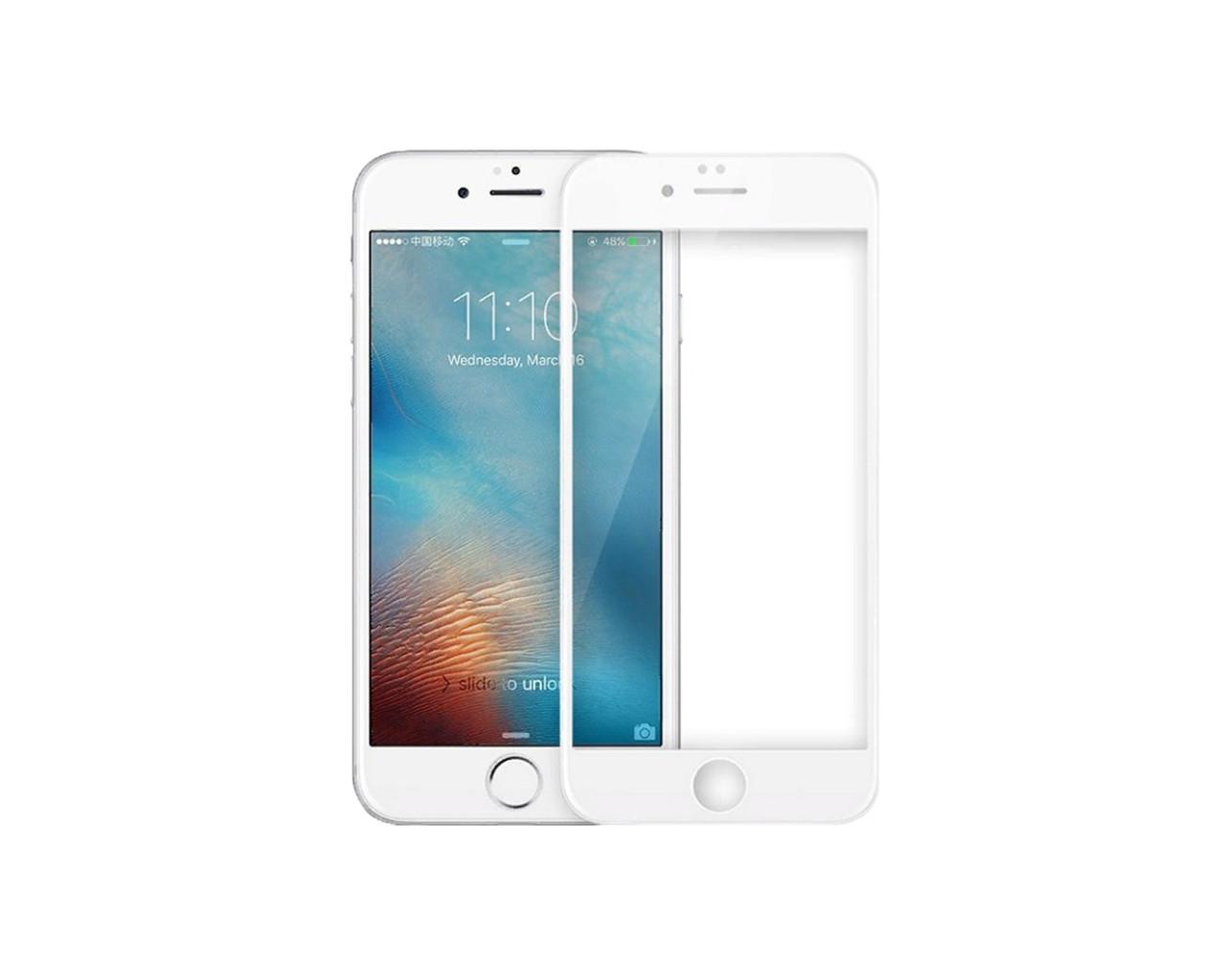 Захисне скло 3D Full Cover для iPhone 6 Plus/6S Plus Білий (2321)