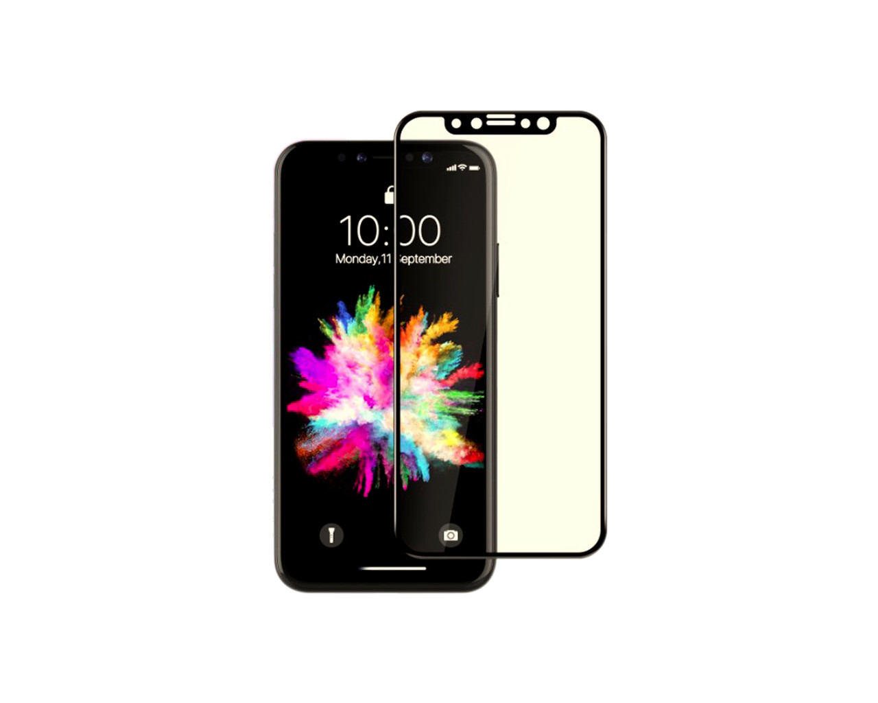 Защитное стекло 3D Full Cover для iPhone X/Xs Черный (2330)