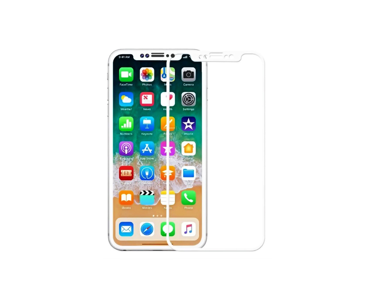 Захисне скло 3D Full Cover для iPhone X/Xs Білий (2331)
