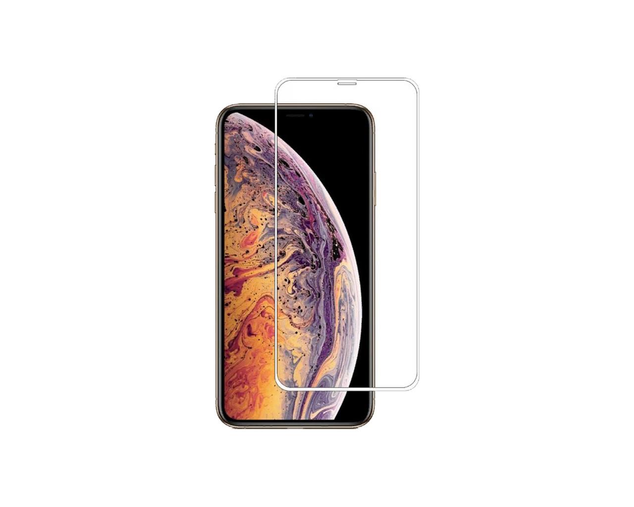 Защитное стекло 3D Full Cover для iPhone Xs Max Белый (2335)
