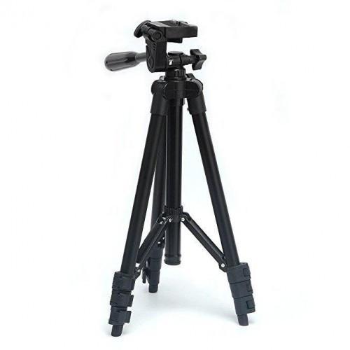 Штатив для фотоапарата трипод 3120A з чохлом Чорний (kjh47127)