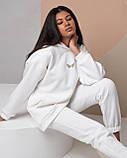 Женский зимний спортивный костюм двойка белый пудровый фисташковый 42-46 48-50 oversize, фото 5