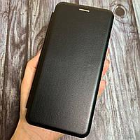 Чехол книга для Xiaomi Redmi 9C с эко кожи с подставкой магнитом книжка на телефон сяоми редми 9с черная STN