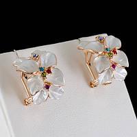 Шикарные серьги с кристаллами Swarovski, покрытые слоями золота 0548