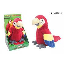 Мовець м'яка іграшка повторюшка Папуга, іграшка повторює CL1191
