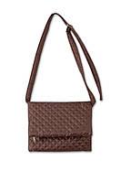 Женская стеганая сумка Клатч коричневый