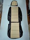 Чехлы на сиденья Митсубиси Аутлендер (Mitsubishi Outlander) (универсальные, кожзам, с отдельным подголовником), фото 5