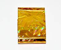 Фольга переводная 1,5 м, Цвет Золото голограмма круп.