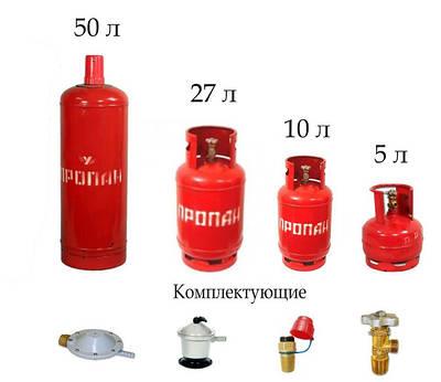 Газові балони та комплектуючі