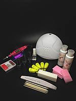 Стартовый набор для покрытия ногтей гель-лаком , УФ-LED лампа SunOne 48 Вт + маникюрный фрезер