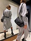 Платье женское тёплое с поясом беж, чёрный, серый 42-46, фото 5