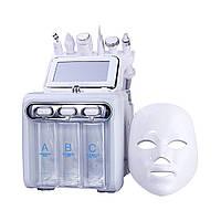 Косметологічний апарат, комбайн 7 в 1 H2 O2 Гидропилинг, RF, Мікроструми, Скрабер, LED Маска, Кріотерапія