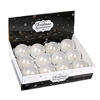Набір пластикових новорічних куль D-8 див. 11463, Ціна за упаковку