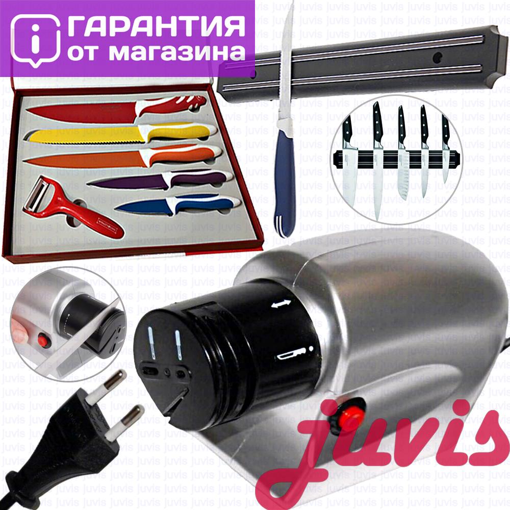 Точилка для ножей электрическая електро точило ножів от сети, розетки електрична KNIFE SHAPER 220 v/в сетевая