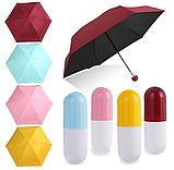 Зонт капсула мини зонтик в футляре капсуле Capsule Umbrella карманный mybrella капсульный парасоля складной, фото 2