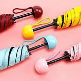 Зонт капсула мини зонтик в футляре капсуле Capsule Umbrella карманный mybrella капсульный парасоля складной, фото 4