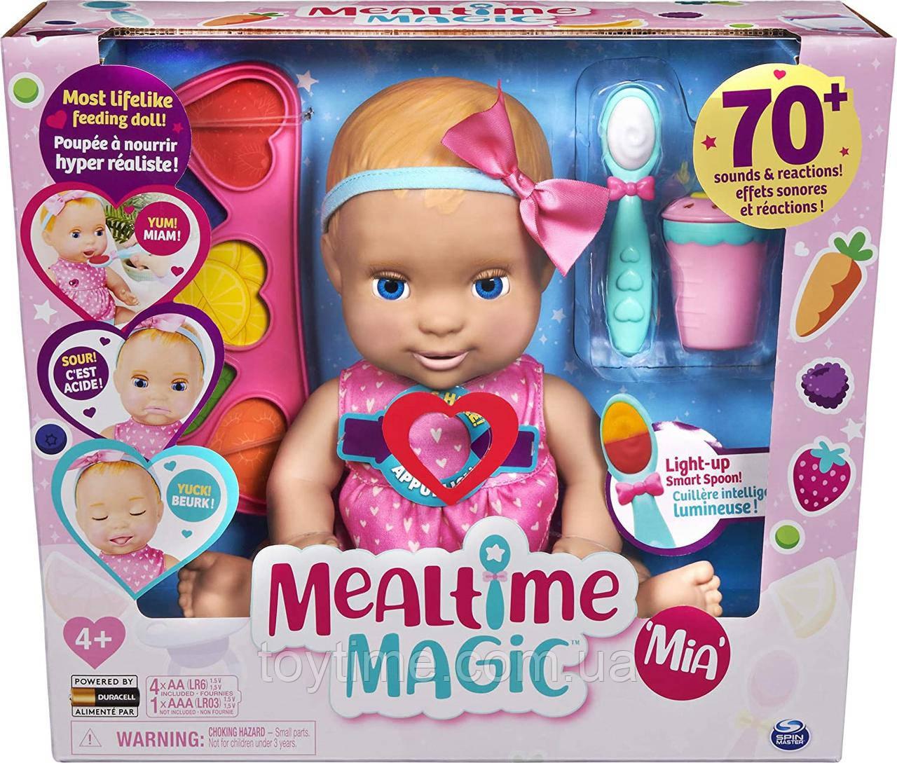 Интерактивная кукла для кормления Мия Лувабелла / Mealtime Magic Mia Interactive Feeding Baby Doll Luvabella