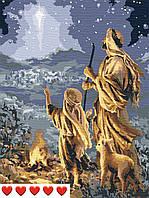 Картина по номерам Накануне рождества, цветной холст, 40*50 см, без коробки, ТМ Barvi+ ЛАК