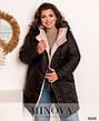 Куртка женская стильная батальная с капюшоном, фото 6