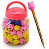 Ластик на карандаш для удаления надписей Пингвин за 80 шт, разные цвета, нестандартная, ластик, ластик для