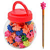 Ластик на карандаш для удаления надписей Звезда за 60 шт, разные цвета, нестандартная, ластик, ластик для