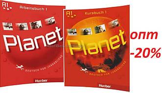 Немецкий язык / Planet / Kursbuch+Arbeitsbuch. Учебник+Тетрадь (комплект), 1 / Hueber