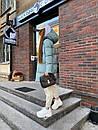 Женский зимний двухсторонний пуховик Черный / Зеленый, фото 10