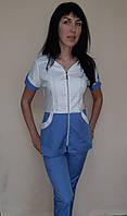 Женский медицинский костюм Жасмин хлопок короткий рукав, фото 1