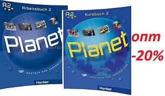 Немецкий язык / Planet / Kursbuch+Arbeitsbuch. Учебник+Тетрадь (комплект), 2 / Hueber