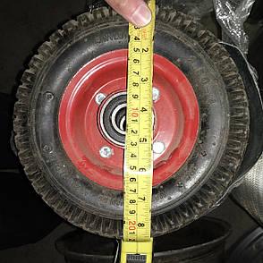 Колесо на тачку в сборе 2.50-4. Колесо для тачки пневматическое 2.50-4 под ось 20 мм, фото 2