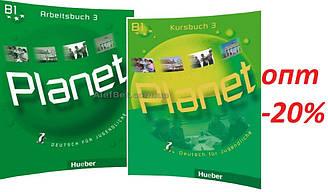Немецкий язык / Planet / Kursbuch+Arbeitsbuch. Учебник+Тетрадь (комплект), 3 / Hueber