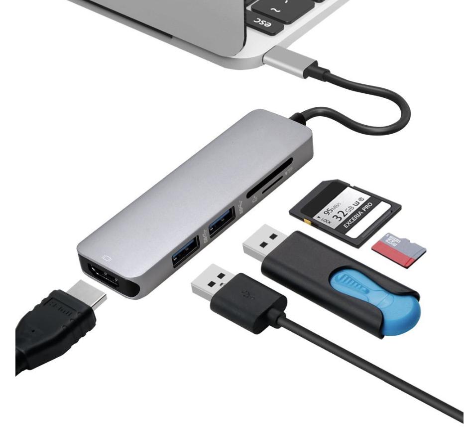 Адаптер - перехідник для MacBook (Samsung S8 S9 Huawei P20)