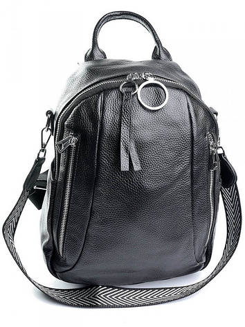 Женский рюкзак кожаный Case 857 черный, фото 2