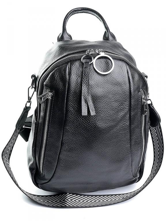 Женский рюкзак кожаный Case 857 черный