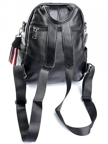 Жіноча сумка шкіряна Case 855 чорна, фото 2