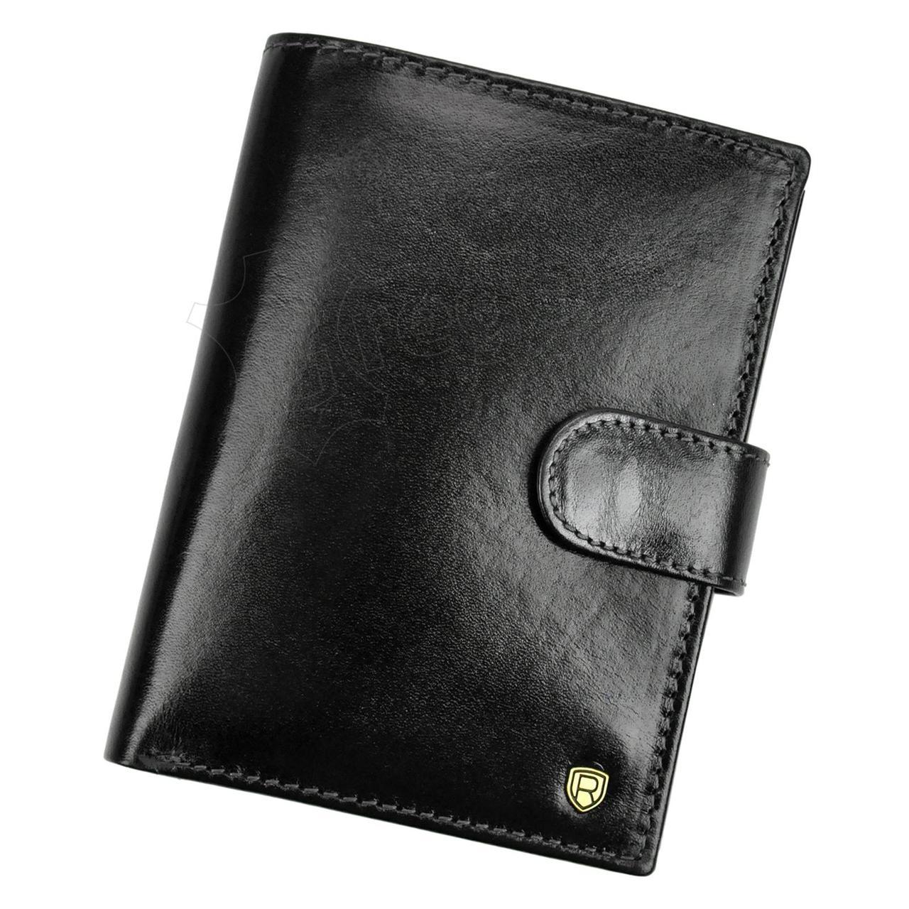 Мужской кожаный кошелек Rovicky N575L-RVT RFID Коричневый