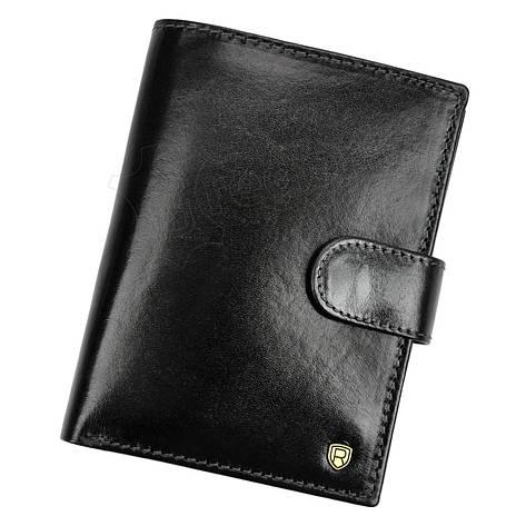 Мужской кожаный кошелек Rovicky N575L-RVT RFID Коричневый, фото 2