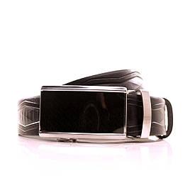 Ремень кожаный Lazar 120-125 см черный L35U1A30