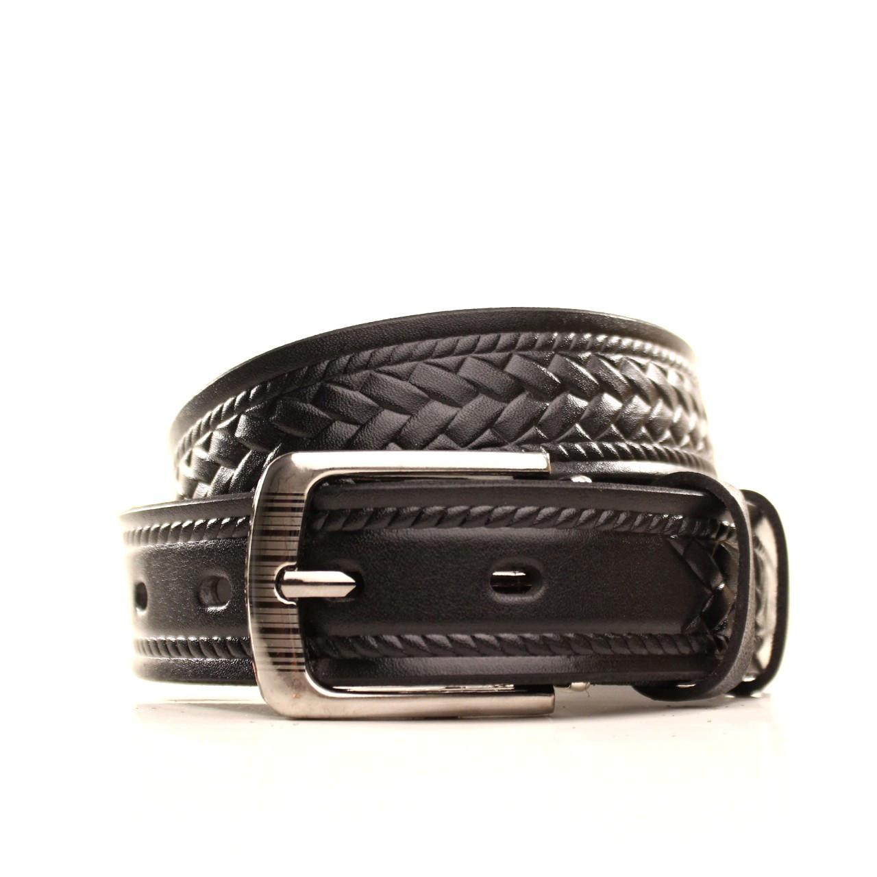 Ремень кожаный Lazar 70-80 см черный l30u3w11