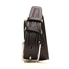 Ремень кожаный Lazar 70-80 см черный l30u3w11, фото 2