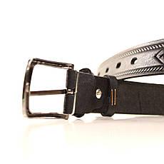 Ремень кожаный Lazar 70-80 см черный l30u3w11, фото 3