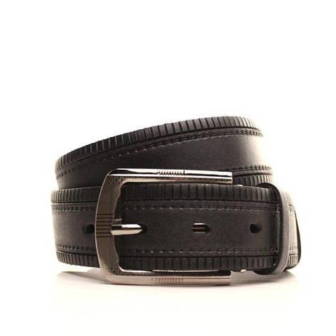Ремень кожаный Lazar 105-110 см черный L35S1W25, фото 2