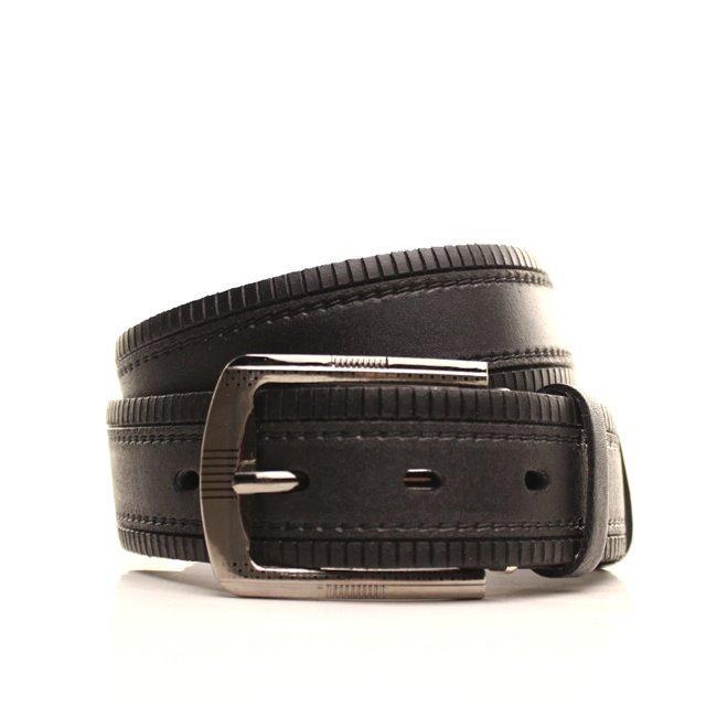 Ремень кожаный Lazar 115-120 см черный L35S1W25