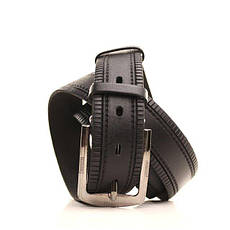 Ремень кожаный Lazar 115-120 см черный L35S1W25, фото 2