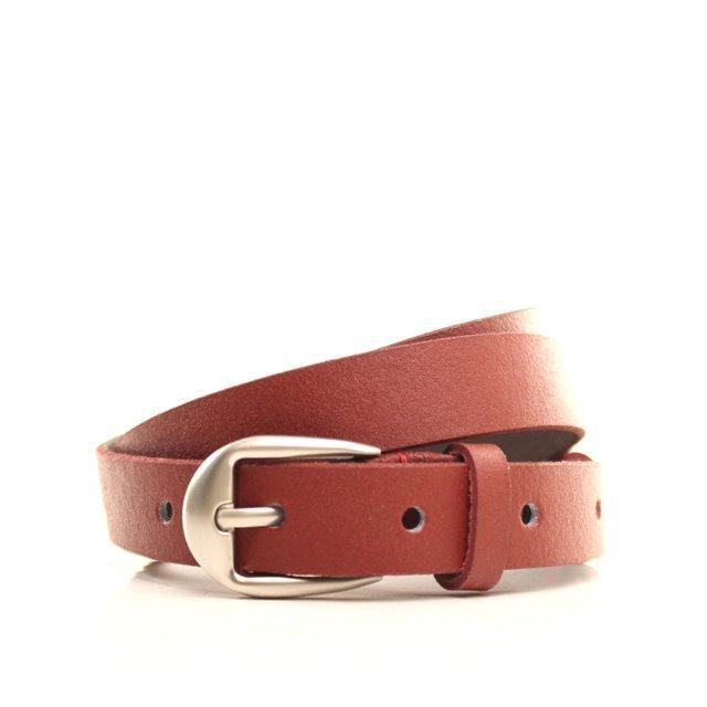 Ремень кожаный Lazar 115 см красный l20s0w7