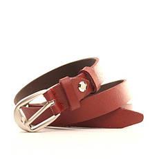 Ремень кожаный Lazar 115 см красный l20s0w7, фото 3