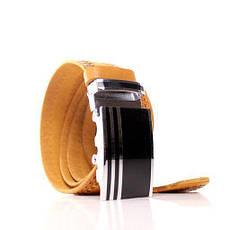 Ремень кожаный Lazar 115-120 см оранжевый л35в1а68, фото 2